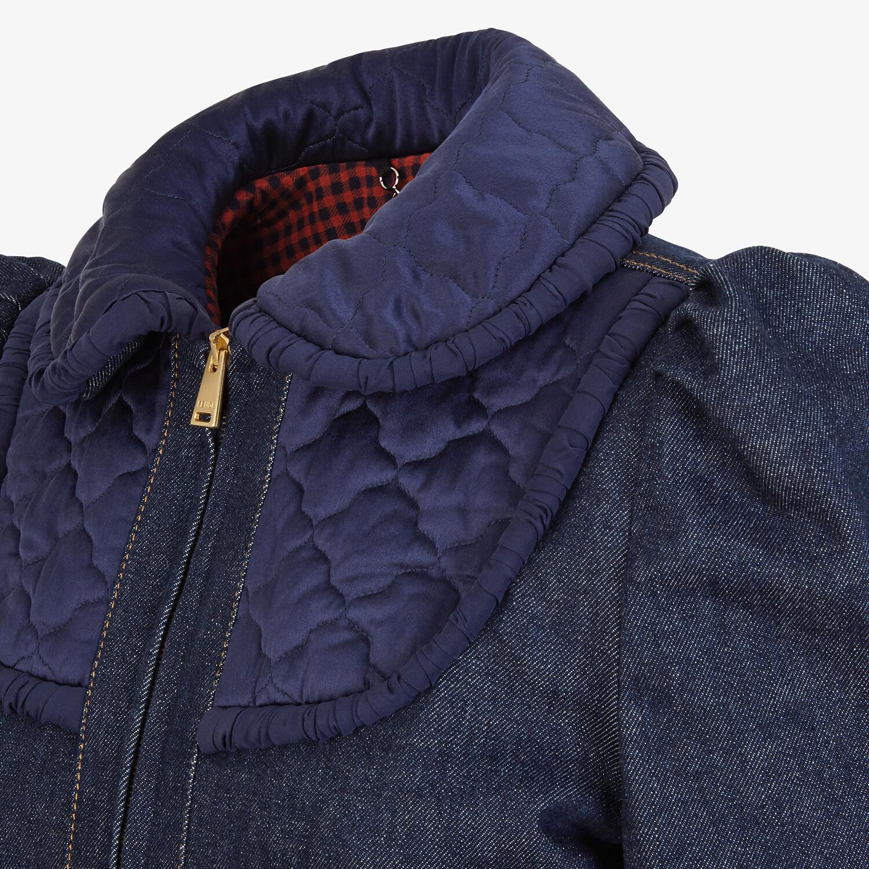 FENDI JACKET - Blue denim jacket - view 3 detail