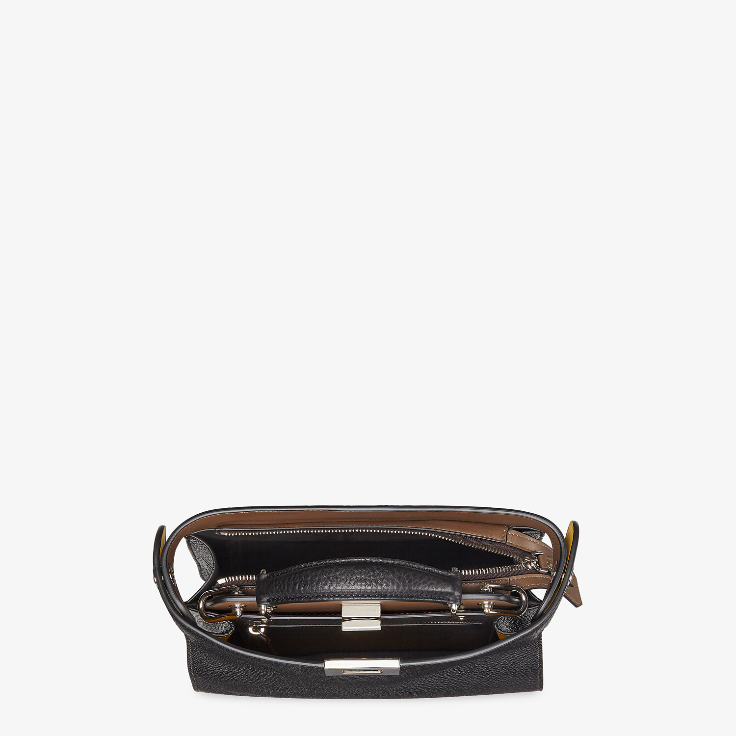 FENDI PEEKABOO ISEEU MINI - Black leather bag - view 5 detail