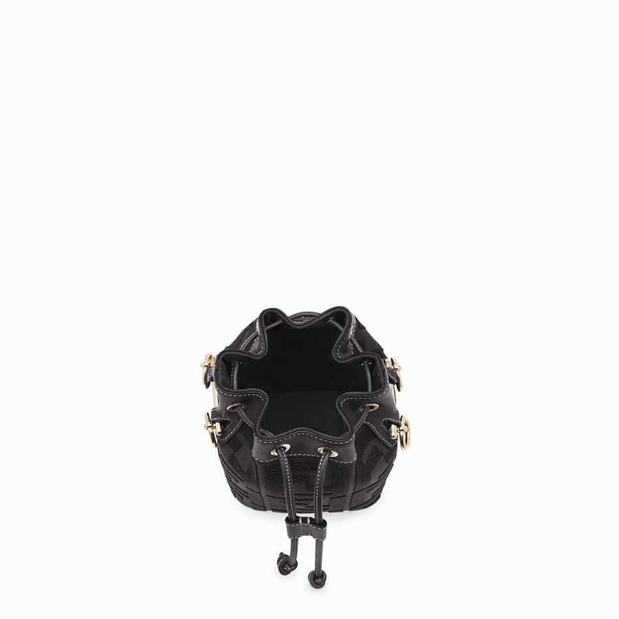 FENDI MON TRESOR - Mini-Tasche aus Canvas in Schwarz - view 5 detail