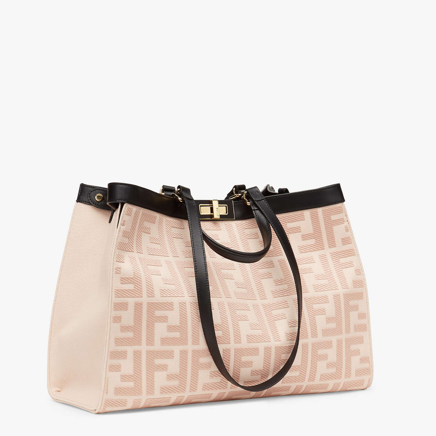 FENDI PEEKABOO X-TOTE - Embroidered pink canvas bag - view 2 detail