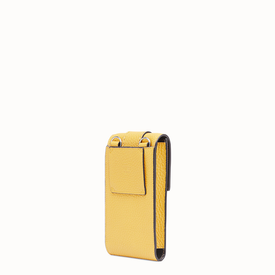 FENDI iPHONE X CASE - Yellow leather cover - view 2 detail