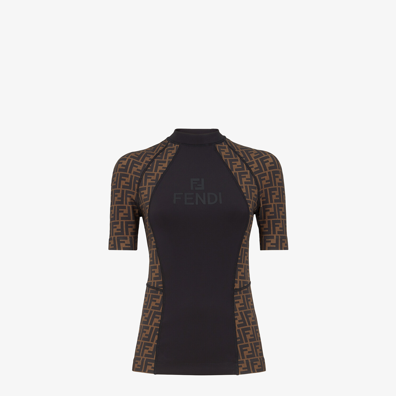 FENDI SWEATER - Brown Lycra® sweater - view 1 detail