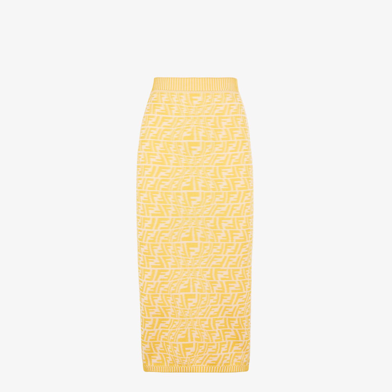 FENDI SKIRT - Yellow viscose skirt - view 1 detail