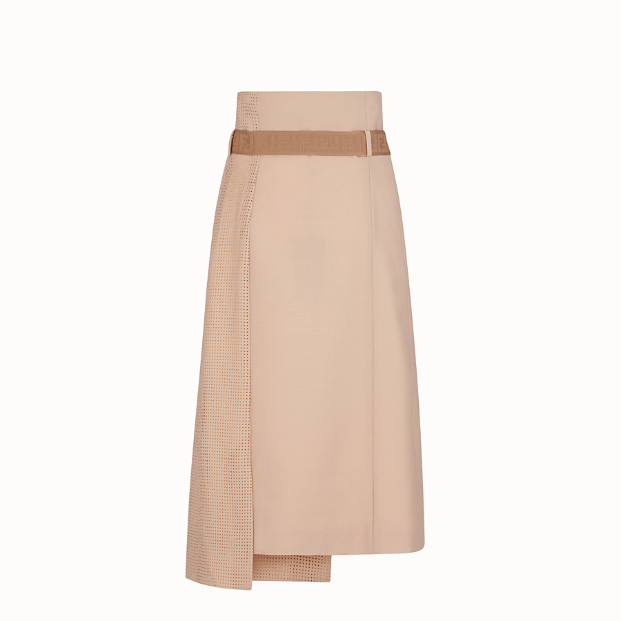 FENDI SKIRT - Beige mohair skirt - view 2 detail