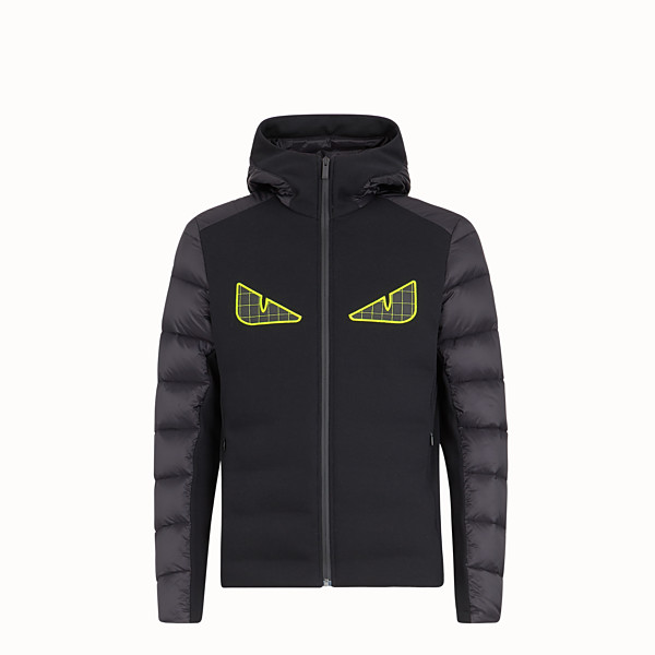 FENDI BLOUSON JACKET - Black tech jersey jumper - view 1 small thumbnail