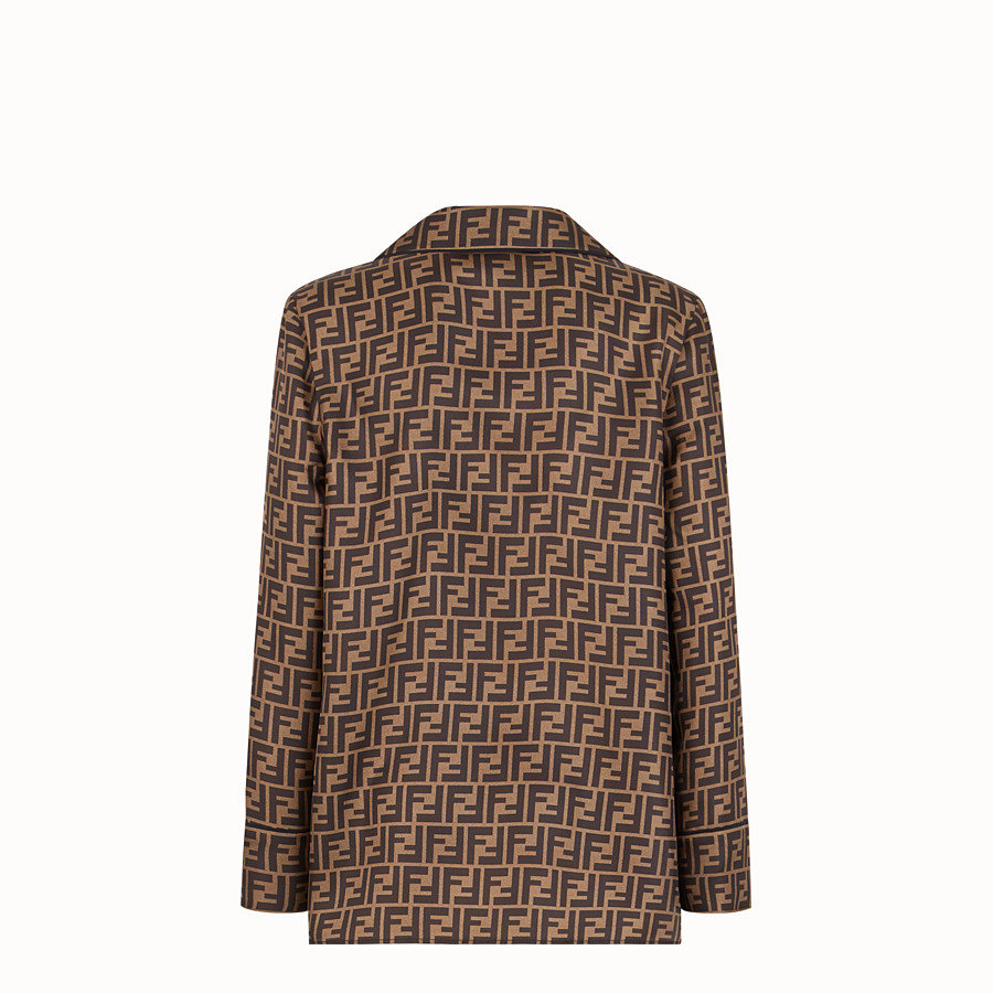 FENDI SHIRT - Brown twill shirt - view 2 detail