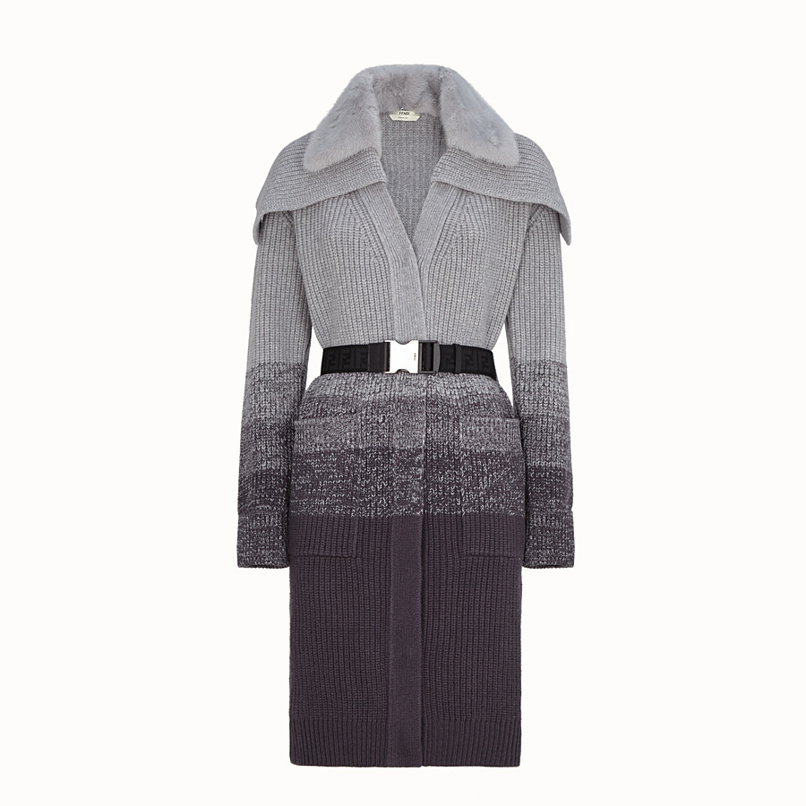 FENDI COAT - Grey wool coat - view 1 detail