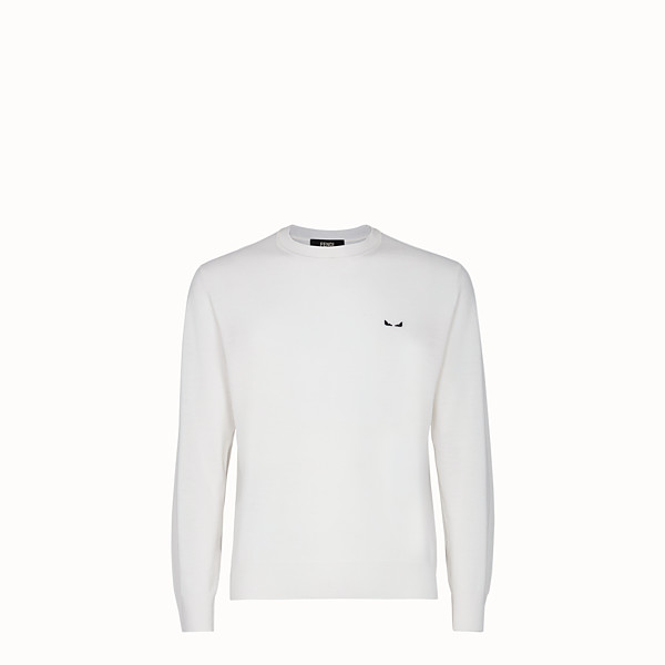 FENDI JUMPER - White wool jumper - view 1 small thumbnail