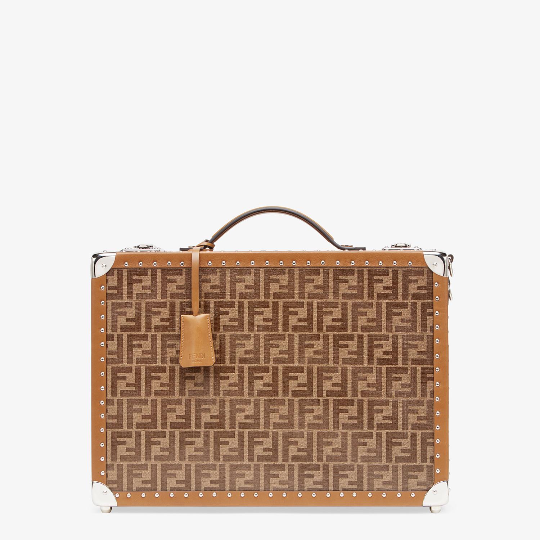FENDI RIGID SUITCASE MEDIUM - Brown fabric suitcase - view 1 detail