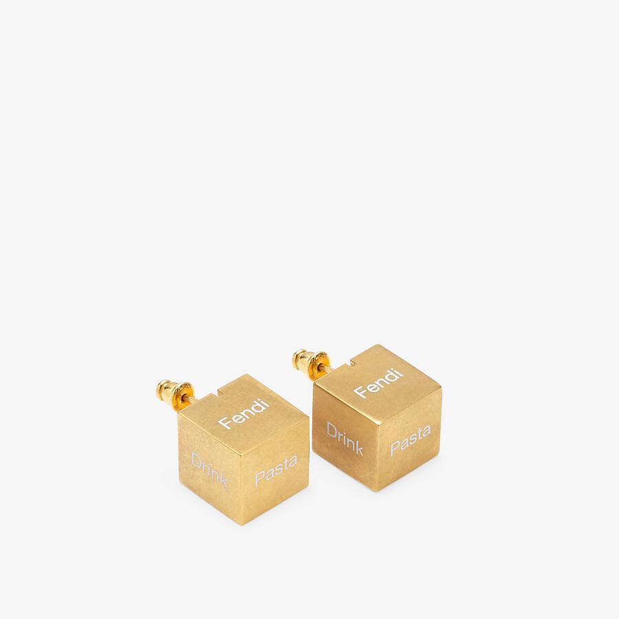FENDI SIGNATURE EARRINGS - Gold-colored earrings - view 1 detail