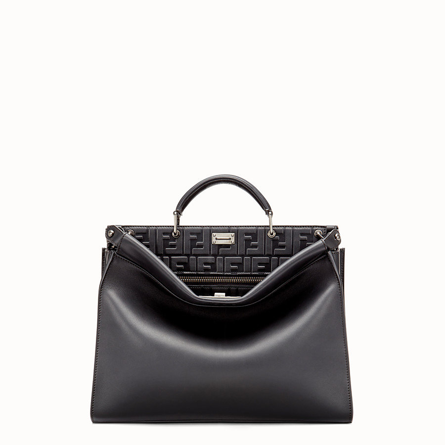 FENDI PEEKABOO FIT - Sac en cuir noir - view 1 detail