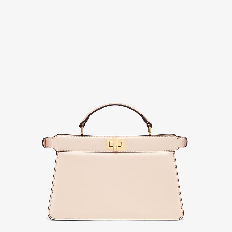 FENDI PEEKABOO ISEEU EAST-WEST - Pink leather bag - view 3 detail