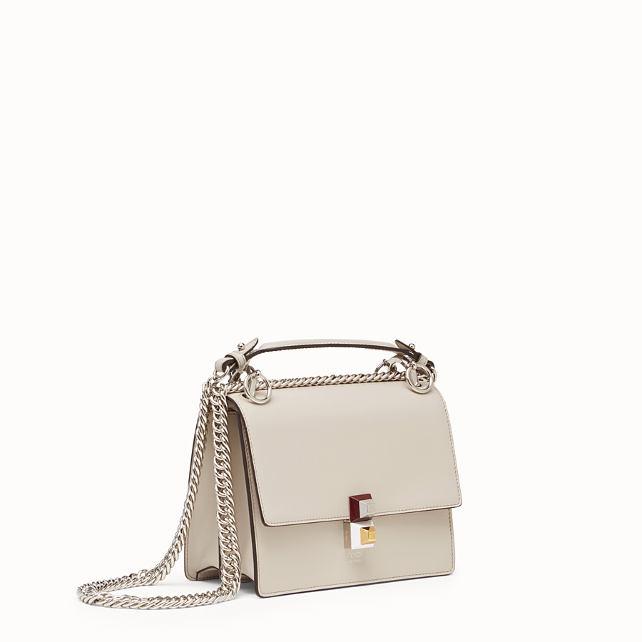 FENDI KAN I SMALL - Mini-bag in powder grey leather - view 3 detail