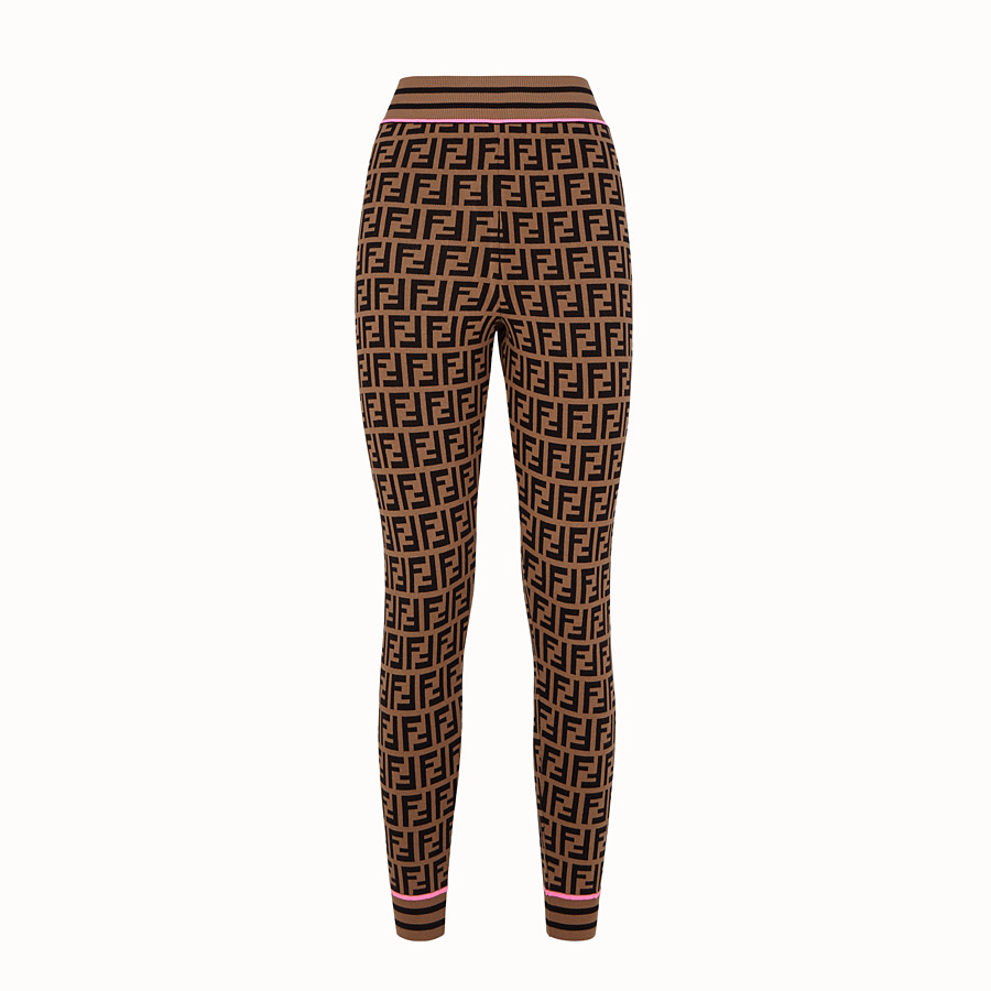 FENDI TROUSERS - Fendi Roma Amor fabric leggings - view 1 detail