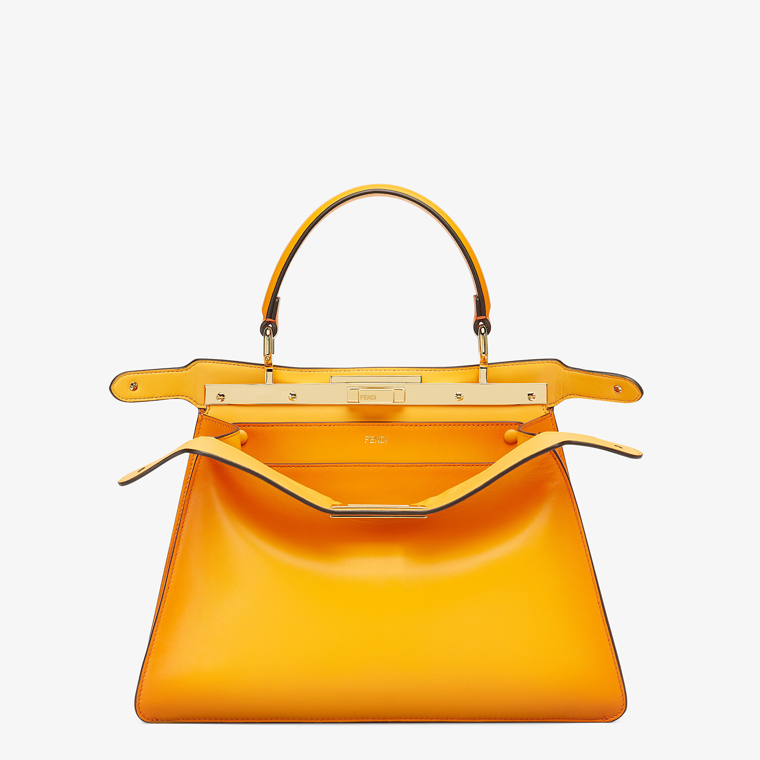 FENDI PEEKABOO ISEEU MEDIUM - Orange leather bag - view 2 detail
