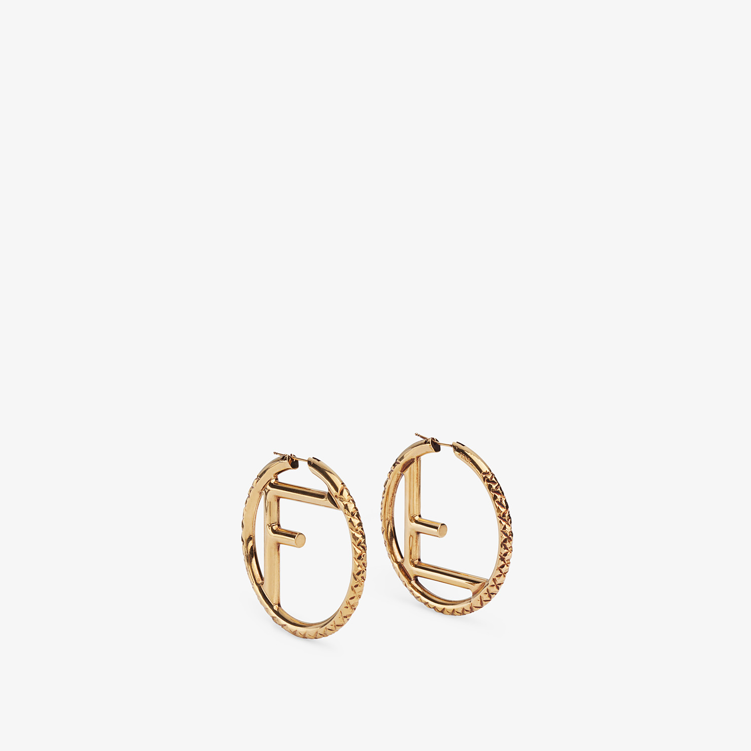 FENDI F IS FENDI EARRINGS - Gold-color earrings - view 1 detail