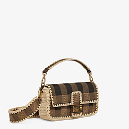 FENDI BAGUETTE - Brown fabric bag - view 3 thumbnail