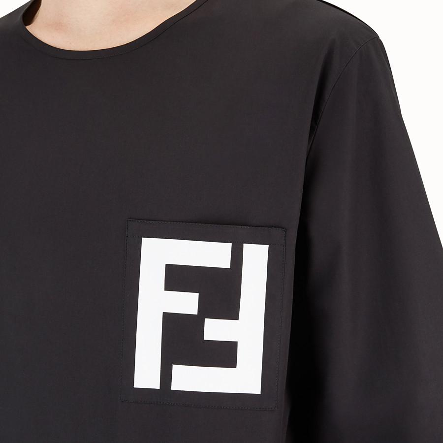FENDI CHEMISE - Chemise en coton noir - view 3 detail