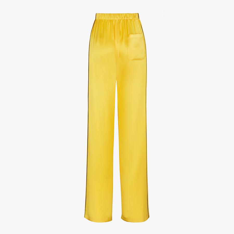 FENDI PAJAMAS - Yellow silk pajamas - view 5 detail