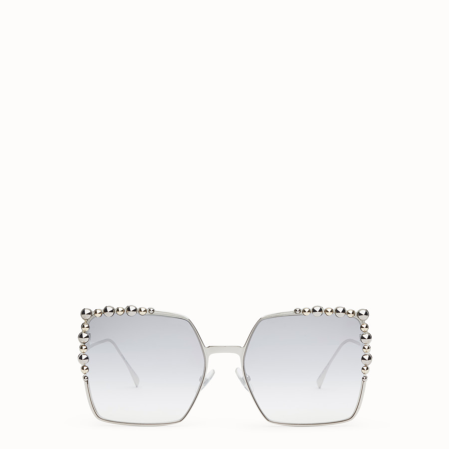 FENDI CAN EYE - Silver-colour sunglasses - view 1 detail