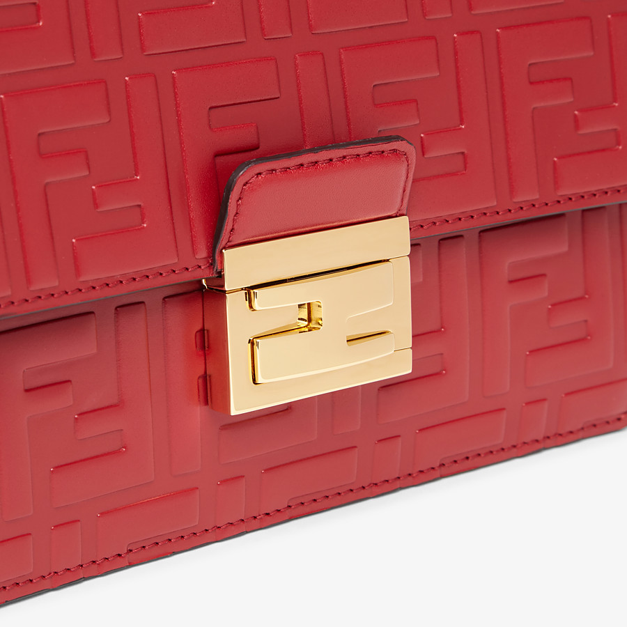 FENDI KAN I SMALL - Red leather mini-bag - view 5 detail