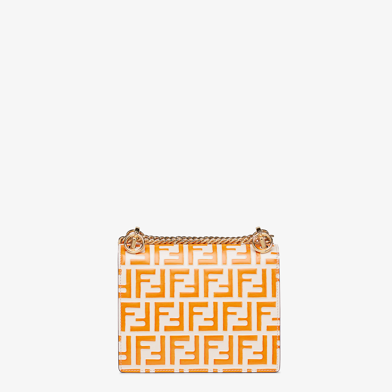 FENDI KAN I SMALL - White leather mini-bag - view 3 detail