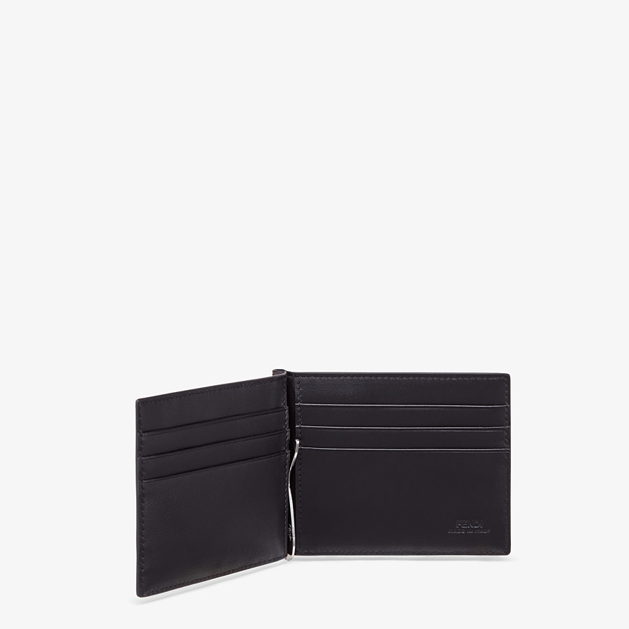 FENDI CARD HOLDER - Brown fabric money clip - view 3 detail