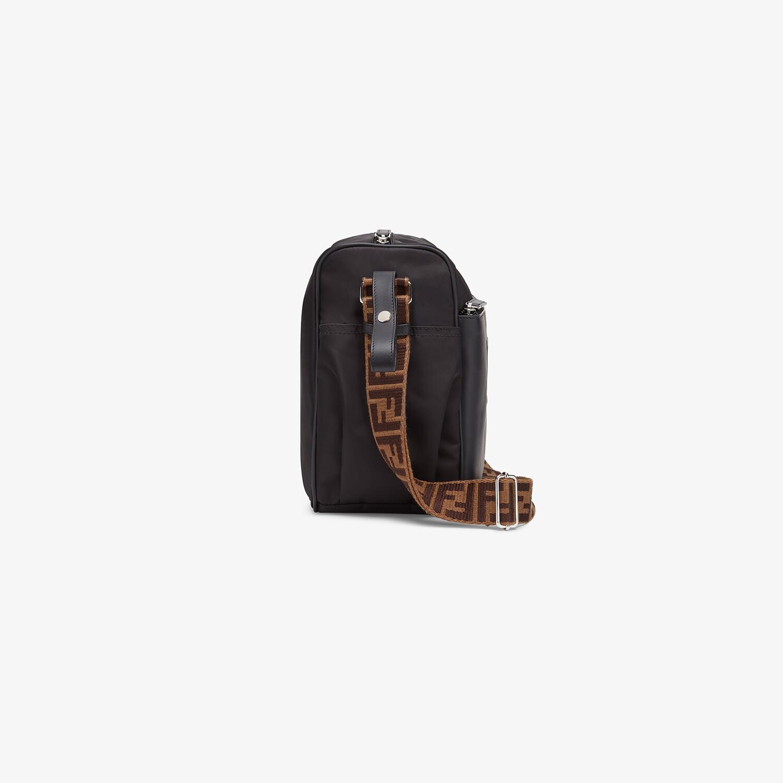 FENDI DIAPER BAG - Black leather and nylon diaper bag - view 2 detail