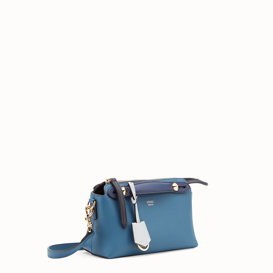 FENDI BY THE WAY MINI - Blue leather small Boston bag - view 2 detail