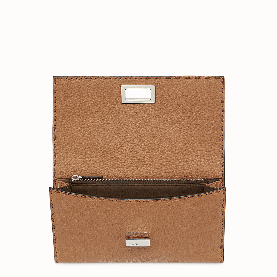 FENDI WALLET - Selleria in toffee Roman leather - view 4 detail