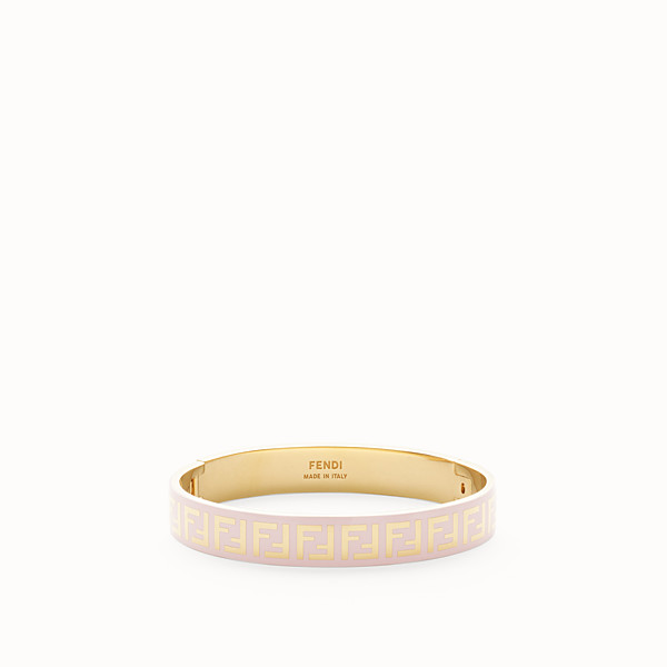 FENDI FF BRACELET - Gold and pink coloured bracelet - view 1 small thumbnail