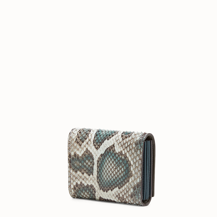 FENDI CARD HOLDER - Green python card holder - view 2 detail