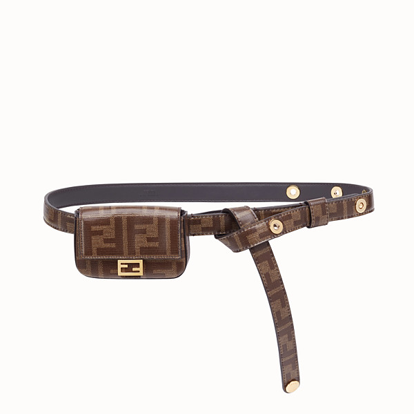 FENDI BELT WITH BAG - Brown fabric belt - view 1 small thumbnail