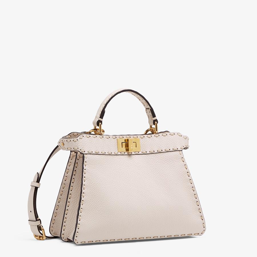 FENDI PEEKABOO ISEEU SMALL - White full grain leather bag - view 3 detail