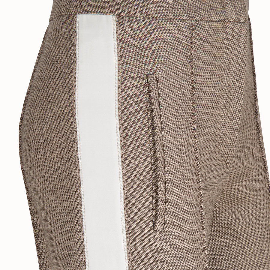 FENDI TROUSERS - Grisaille wool trousers - view 3 detail