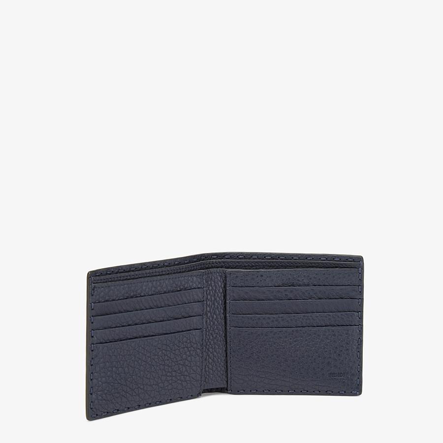 FENDI WALLET - Blue alligator leather bi-fold wallet - view 3 detail