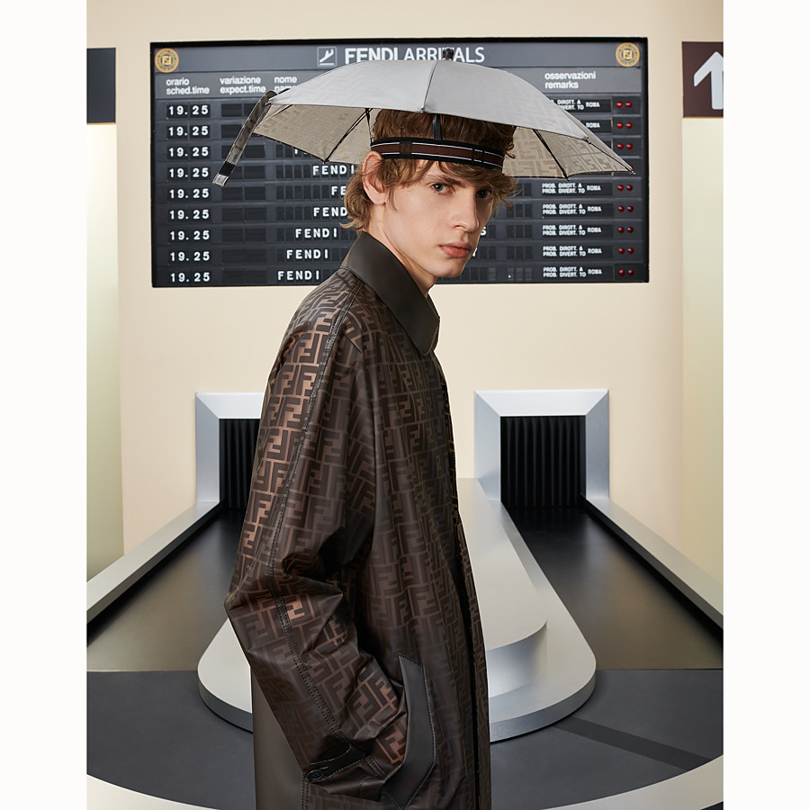 FENDI UMBRELLA-HAT - Beige nylon hat - view 3 detail