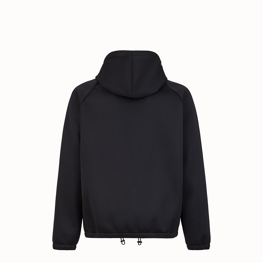 FENDI SWEATSHIRT - Black scuba sweatshirt - view 2 detail