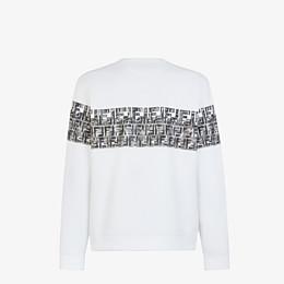 FENDI SWEATSHIRT - White cotton sweatshirt - view 2 thumbnail