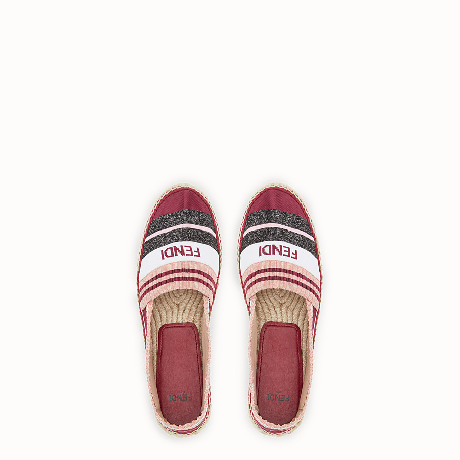 FENDI ESPADRILLES - Multicolour yarn espadrilles - view 4 detail