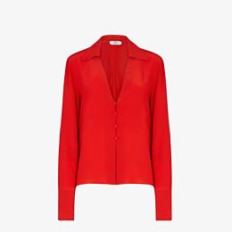 FENDI SHIRT - Red crêpe de Chine blouse - view 1 thumbnail