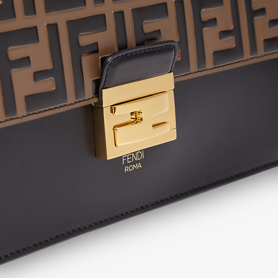 FENDI KAN U - Black leather bag - view 6 detail