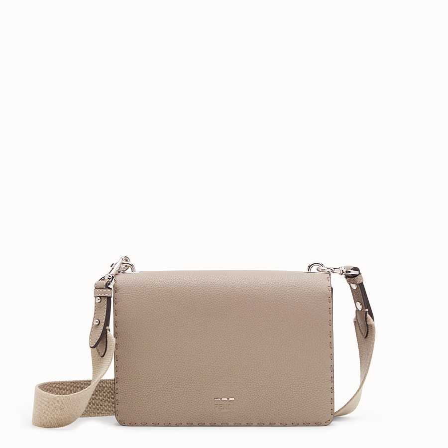 FENDI MESSENGER - Beige leather messenger - view 1 detail