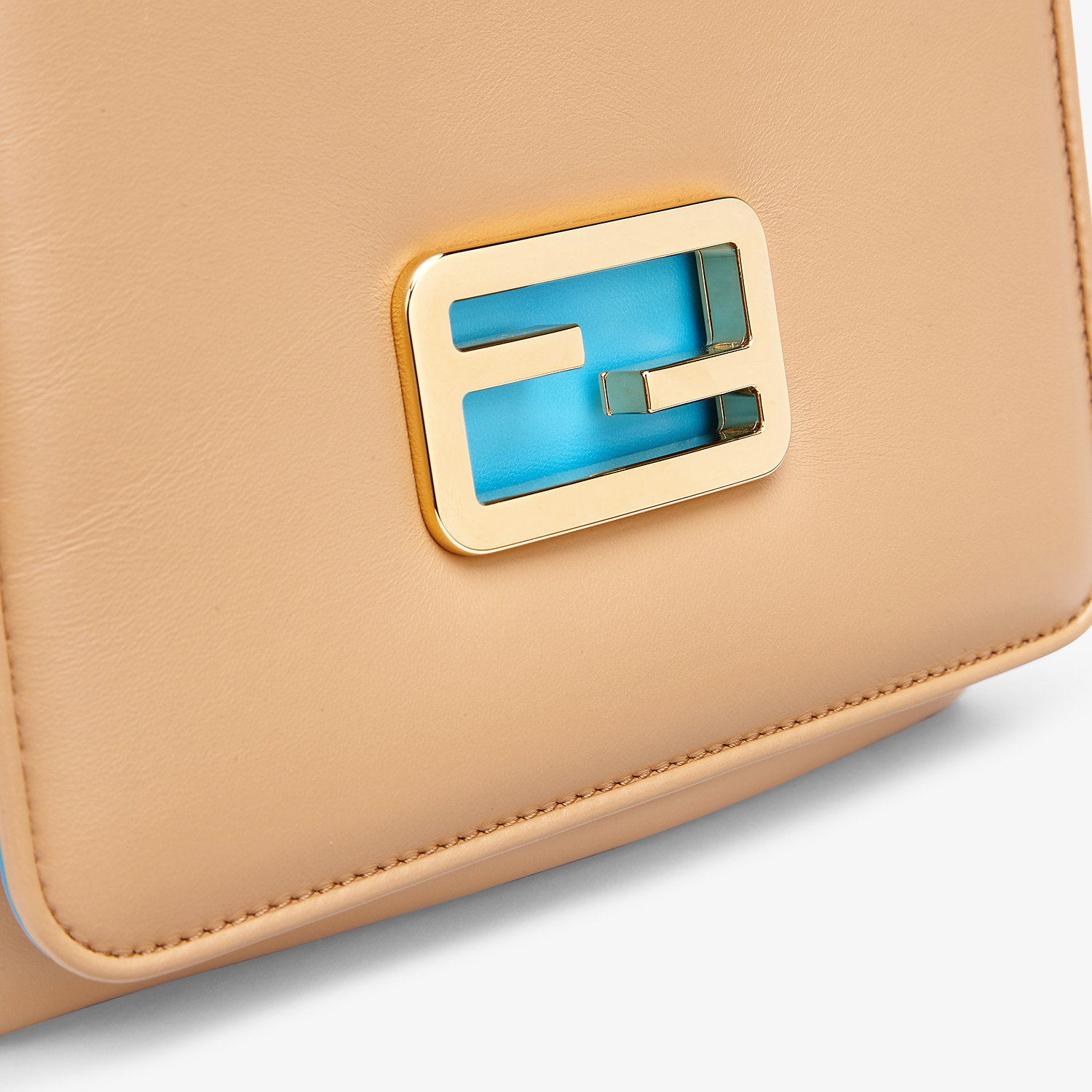 FENDI FENDI ID SMALL - Beige leather bag - view 6 detail