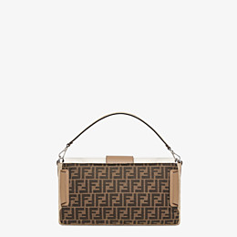 FENDI BAGUETTE LARGE - Brown fabric bag - view 4 thumbnail