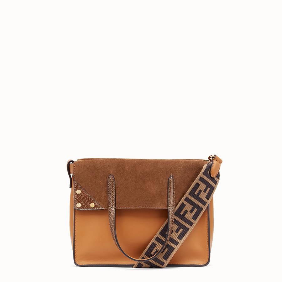 FENDI FENDI FLIP MEDIUM - Brown leather bag - view 1 detail