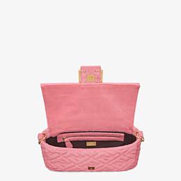 FENDI BAGUETTE - Pink terrycloth bag - view 5 thumbnail