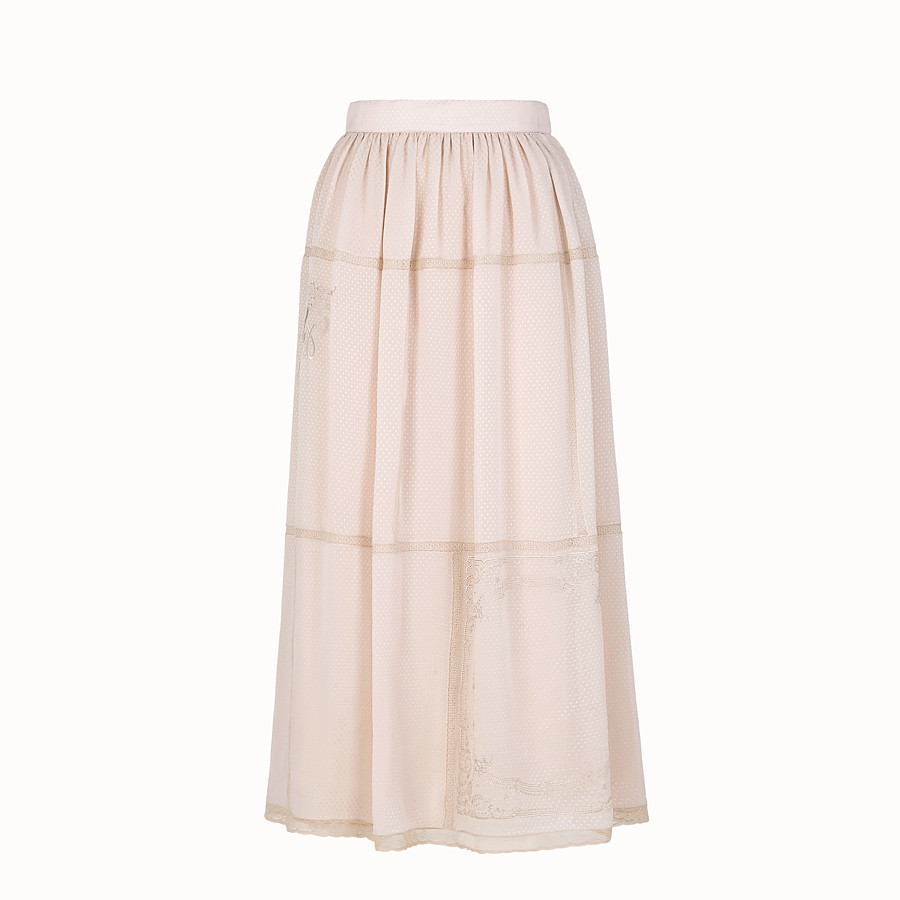 FENDI SKIRT - Pink cotton skirt - view 1 detail
