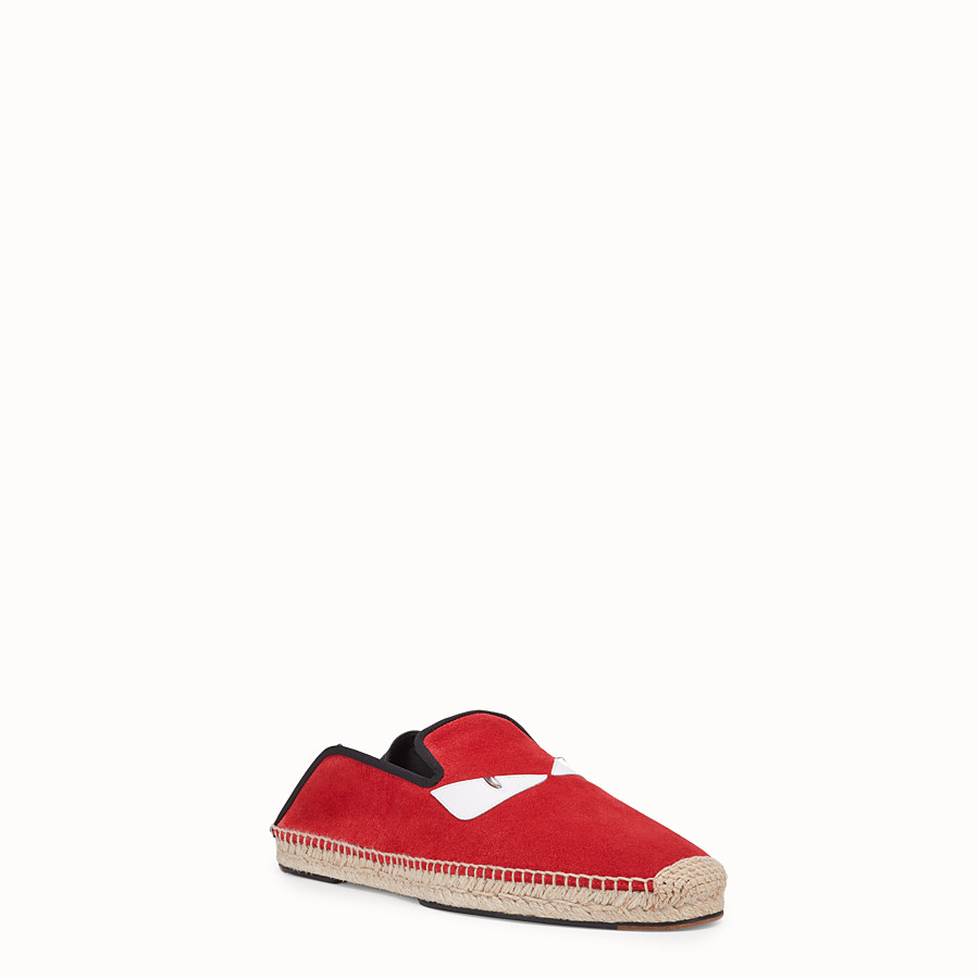 FENDI ESPADRILLES - Red split leather espadrilles - view 2 detail