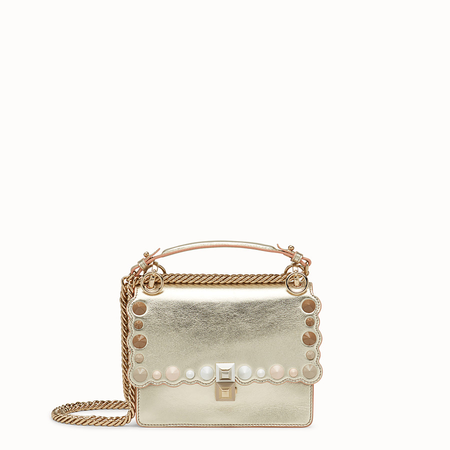 FENDI KAN I SMALL - Gold leather mini-bag - view 1 detail